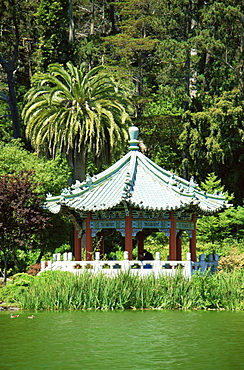 Pavilion, Stow Lake, Golden Gate Park, San Francisco, California, United States of America, North America