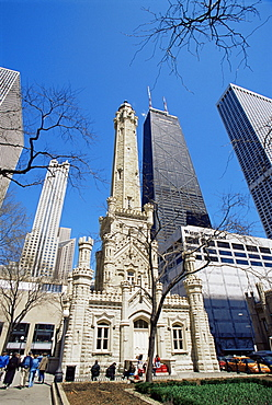 Water Tower and Hancock Tower, Chicago, Illinois, United States of America, North America