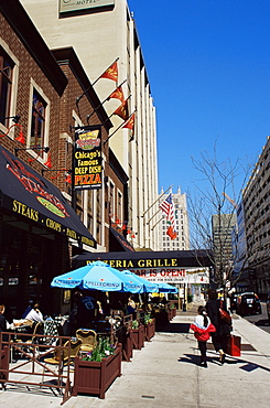 Pizzeria on Superior Street, Downtown Chicago, Illinois, United States of America, North America