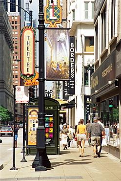Randolf Street, Theatre district, Chicago, Illinois, United States of America, North America