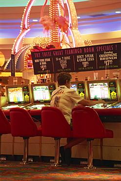 Interior of Flamingo Casino, Las Vegas, Nevada, United States of America, North America