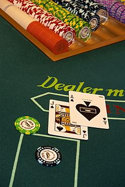 Card table, Summerlin Resort, Las Vegas, Nevada, United States of America, North America