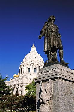 Christopher Columbus statue, State Capitol, St. Paul, Minnesota, United States of America, North America