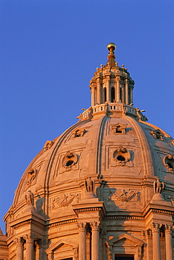 Dome of the State Capitol Building, St. Paul, Minnesota, United States of America, North America