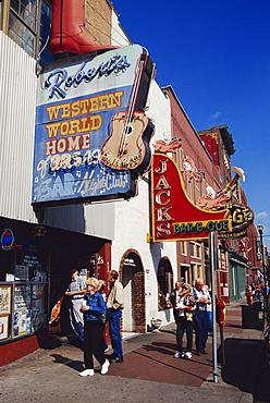 Broadway Street, Nashville, Tennessee, United States of America, North America