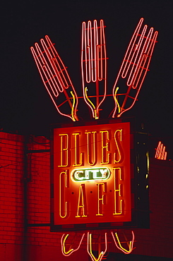 Blues City Cafe, Beale Street, Memphis, Tennessee, United States of America, North America