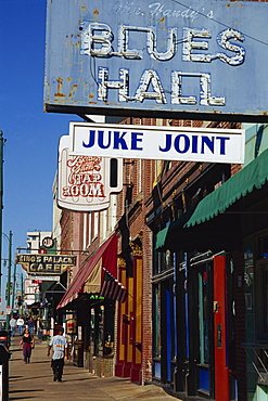 Signs on Beale Street, Memphis, Tennessee, United States of America, North America