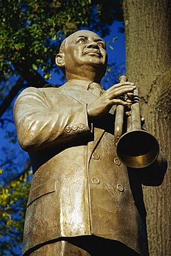 Statue of musician W. C. Handy, Beale Street, Memphis, Tennessee, United States of America, North America