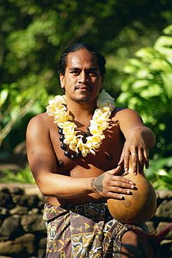 Hula dancer, Waimea Falls State Park, Oahu island, Hawaii, United States of America, Pacific, North America