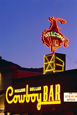 Historic Million Dollar Cowboy Bar, Jackson City, Wyoming, United States of America, North America