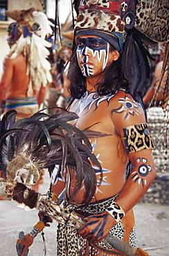 Mayan Indian dancer, Zihuatanejo, Guerrero, Mexico, North America