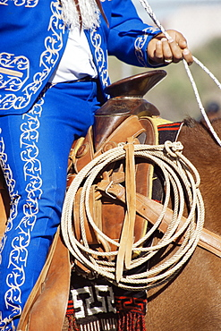 Mexican cowboy, Tucson Rodeo parade, Tucson, Arizona, United States of America, North America