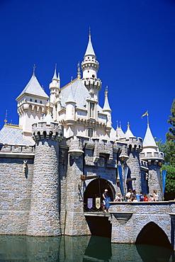 Disneyland castle, Anaheim, Orange County, California, United States of America, North America