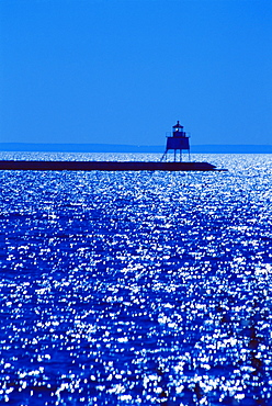 Two Harbors Breakwater Lighthouse, Two Harbors City, Lake Superior, Minnesota, United States of America, North America