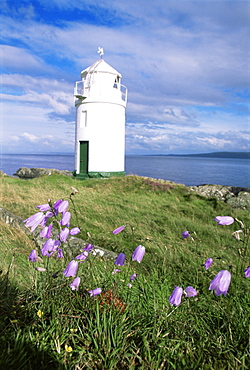 Warren Point lighthouse, Greencastle, County Donegal, Ulster, Republic of Ireland, Europe