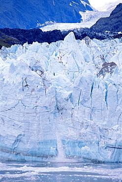 Calving ice, Margerie Glacier, Glacier Bay National Park, Alaska, United States of America, North America