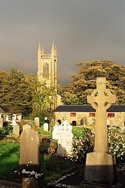 Grave site of W. B. Yeats, Drumcliffe Cemetery, County Sligo, Connacht, Republic of Ireland, Europe