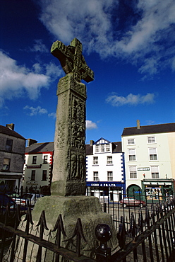 Celtic Cross, Clones Town, County Monaghan, Ulster, Republic of Ireland, Europe