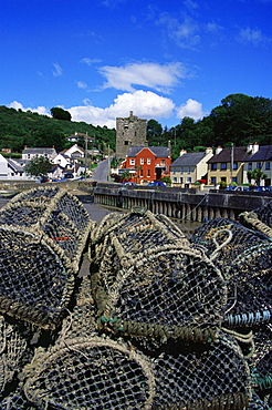 Lobster pots, Ballyhack village, County Wexford, Leinster, Republic of Ireland, Europe