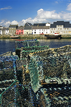 Lobster traps, Galway Harbour, County Galway, Connacht, Republic of Ireland, Europe