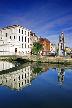 Grand Parade and River Lee, Cork City, County Cork, Munster, Republic of Ireland, Europe