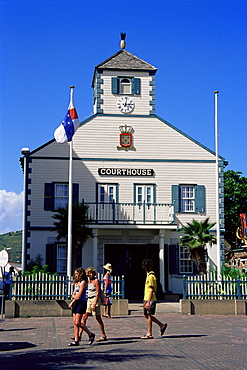 Old Courthouse Tower, Philipsburg, St. Maarten, West Indies, Caribbean, Central America