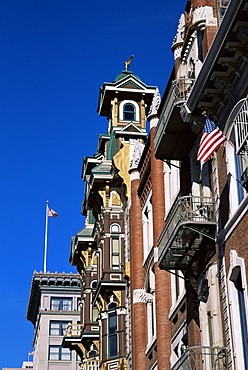 Buildings on 5th Avenue, Gaslamp district, San Diego, California, United States of America, North America