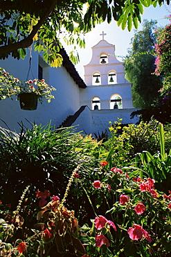 Garden, Mission of Alcala, San Diego, California, United States of America, North America