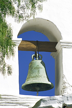Bell tower, Mission of Alcala, San Diego, California, United States of America, North America