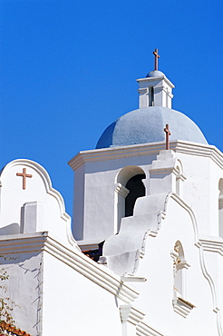 Bell tower, Mission San Luis Rey, Oceanside, North County San Diego, California, United States of America, North America
