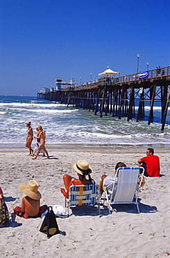 Oceanside Pier, North County San Diego, California, United States of America, North America