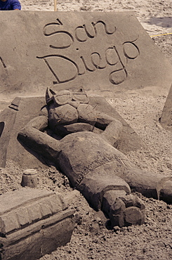 Sand castle competition, Imperial Beach, San Diego, California, United States of America, North America