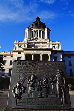Copy of Declaration of Independence, State Capitol grounds, Pierre City, South Dakota, United States of America, North America