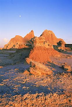 Hoodoo rock formation, Badlands National Park, South Dakota, United States of America, North America
