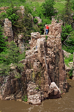 King and Queen Rock, Palisades State Park, Garretson, Greater Sioux Falls area, South Dakota, United States of America, North America