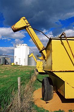 Grain elevators, Draper area, South Dakota, United States of America, North America