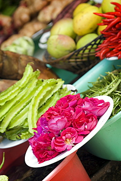 Ingredients for restaurant display, Dali, Yunnan, China, Asia - 784-5