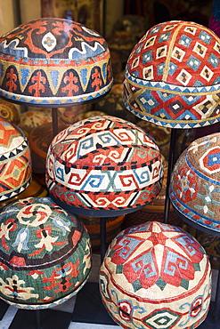 Traditional Turkish hats, Cavalry Bazaar, Istanbul, Turkey, Europe