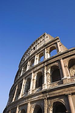Detail of Colosseum amphitheatre, UNESCO World Heritage Site, Rome, Lazio, Italy, Europe