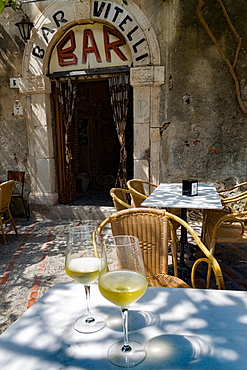Bar Vitelli in the hill town of Savoca was a location in The Godfather, Sicily, Italy, Europe