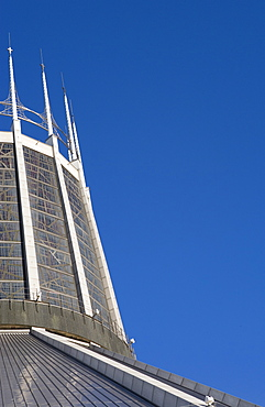 Detail of Metropolitan Cathedral of Christ the King, Liverpool, Merseyside, England, United Kingdom, Europe