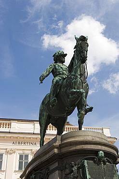 Statue in front of the Albertina Museum, Vienna, Austria, Europe