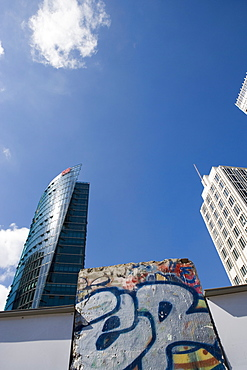 Section of the Berlin Wall, Potsdamer Platz, Sony Centre, Berlin, Germany, Europe