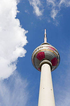 Fernsehturm, Television Tower, Telespargel (Toothpick), Panoramastrasse, Berlin, Germany, Europe