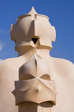 Chimneys, Casa Mila, La Pedrera, Barcelona, Catalonia, Spain, Europe