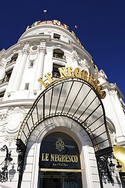 Detail, Hotel Le Negresco, Promenade des Anglais, Nice, Alpes Maritimes, Provence, Cote d'Azur, French Riviera, France, Europe