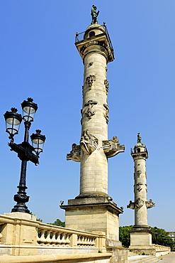 Rostrale Columns, Esplanade Des Quinconces, Bordeaux, UNESCO World Heritage Site, Gironde, Aquitaine, France, Europe