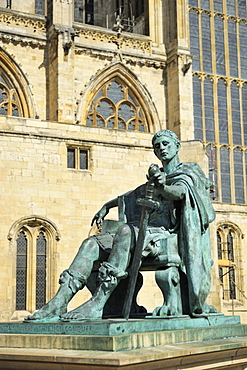 Statue of Roman Emperor Constantine the Great, York, Yorkshire, England, United Kingdom, Europe