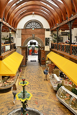 Looking towards the Princes Street entrance, The English Market, Cork, County Cork, Munster, Republic of Ireland, Europe