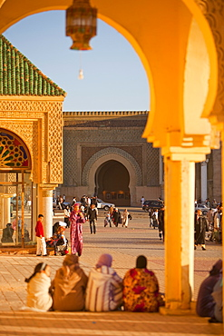 Place el Hedim, Bab Mansour, Meknes, UNESCO World Heritage Site, Morocco, North Africa, Africa